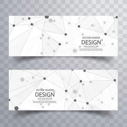 Modèle d'en-tête abstrait polygone créatif