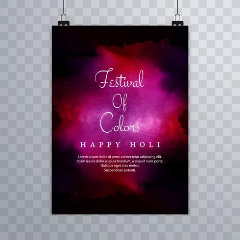 Vacker konsistens broschyr färgstarkt fest indian holi kort