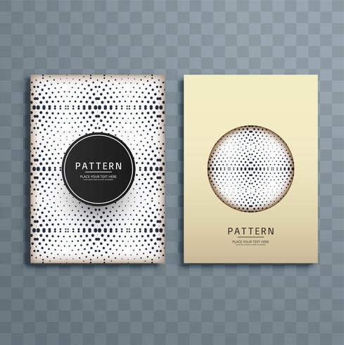 Abstrakt prickad mönster broschyr design illustration