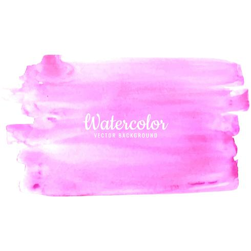 Abstract bright pink watercolor brush stroke design