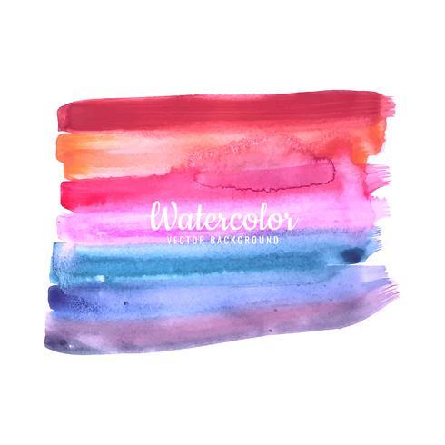 Coup de pinceau abstrait pour la conception et les pinceaux aquarelles colorés