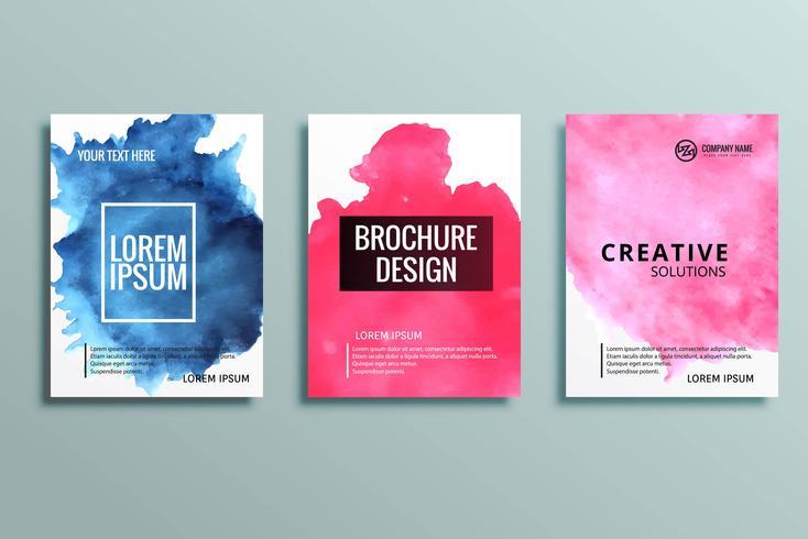 conjunto de folletos de negocios coloridos modernos