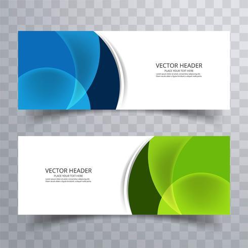 Abstracte banner ontwerp achtergrond, vector website headers