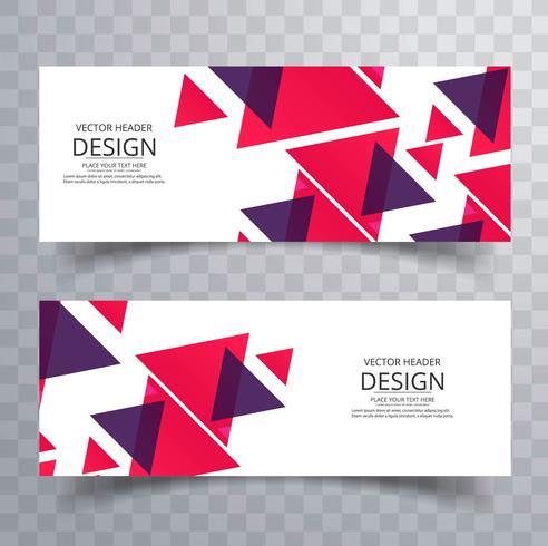 Moderna geometriska banderoller sätta vektor