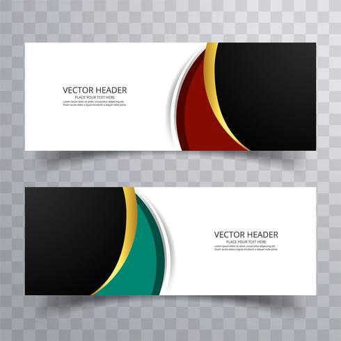 Elegant färgstark bannersettdesign