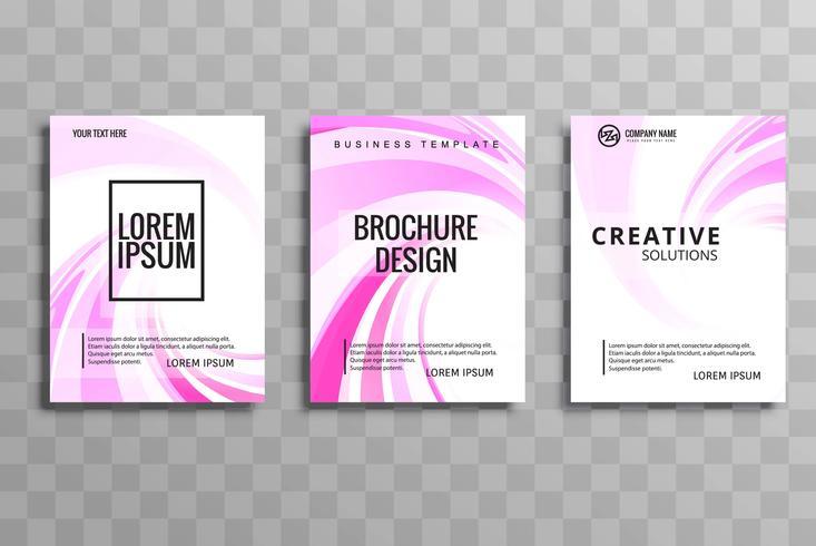 Abstrakt kreativ rosa broschyr broschyrdesign