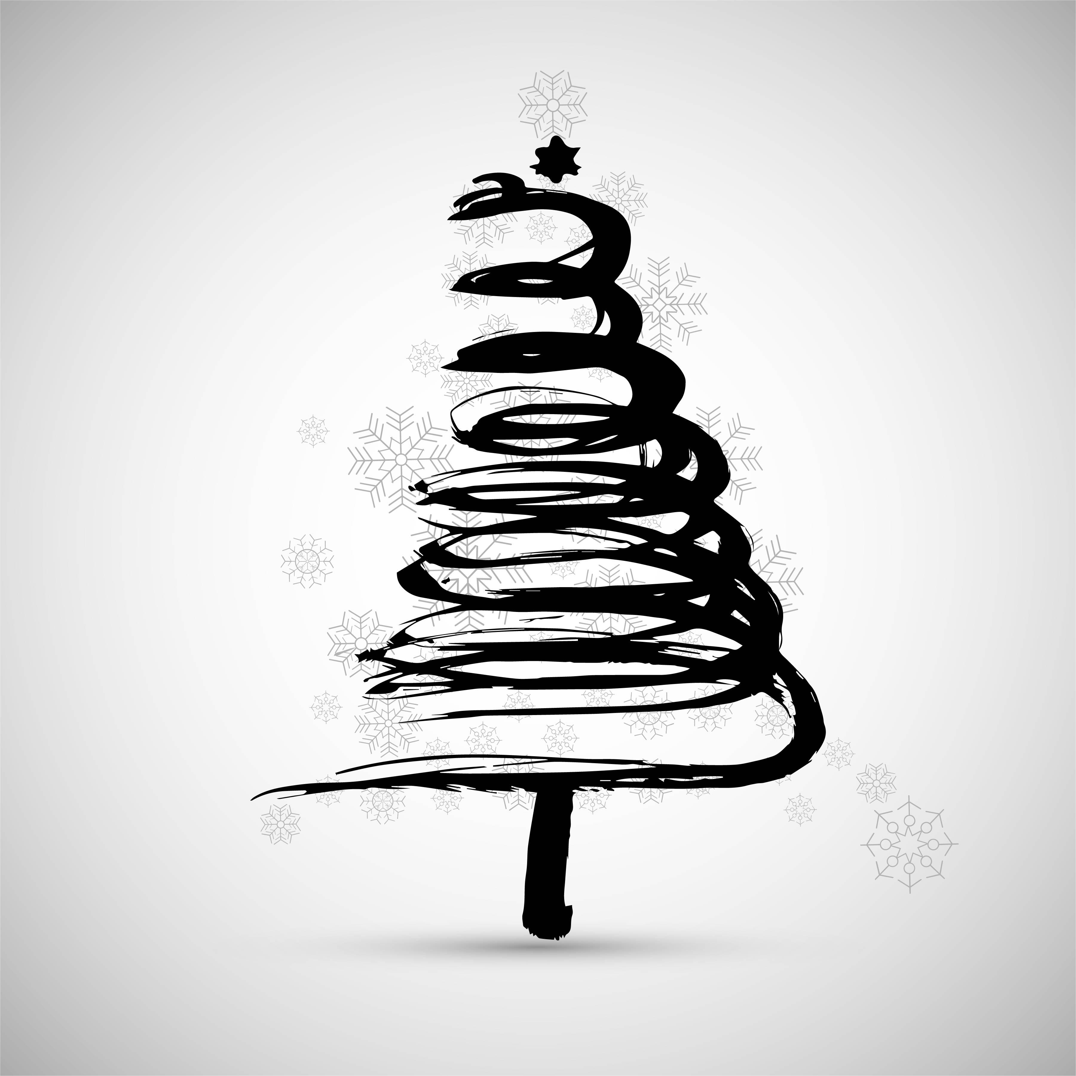 Blue Christmas Tree Wallpaper: Modern Christmas Tree Background