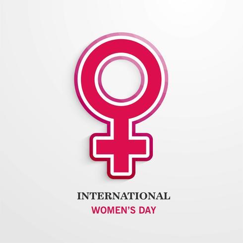 Affiche internationale de la journée de la femme. Signe femme Conception de l'origami