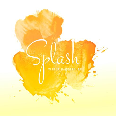 Abstract orange watercolor splash design background