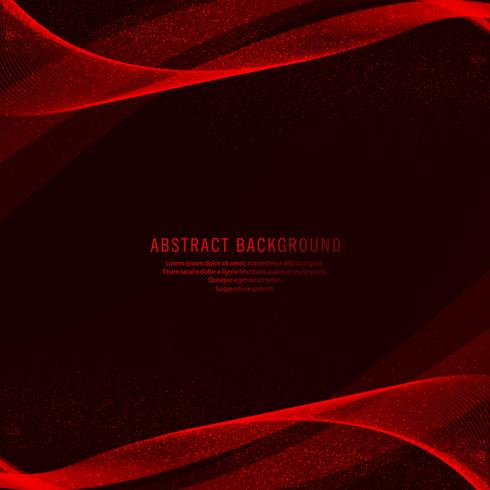 Abstract creative red wave background vector