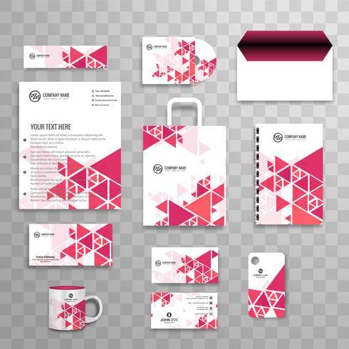 Modern business stationery set vector