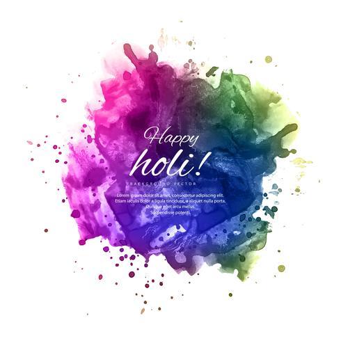Illustration des bunten glücklichen Holi-Hintergrundes für Festival von C