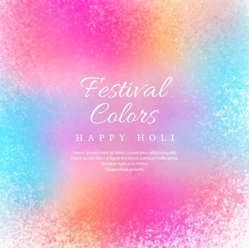 illustration av färgstarka Happy Holi Bakgrund för C-festivalen