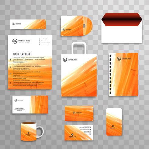 Plantilla de papelería comercial identidad corporativa clásica abstracta