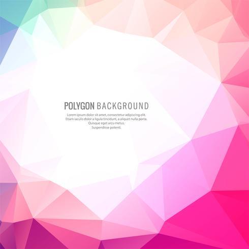 Abstrakt färgrik polygonbakgrund