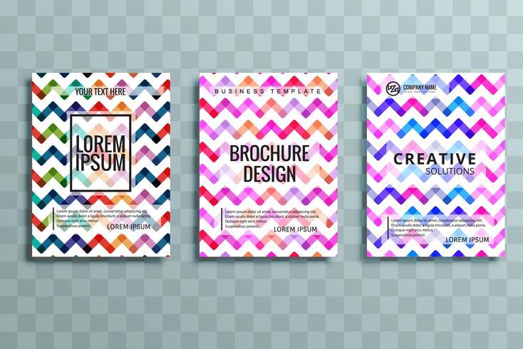 ensemble de brochures d'affaires moderne coloré