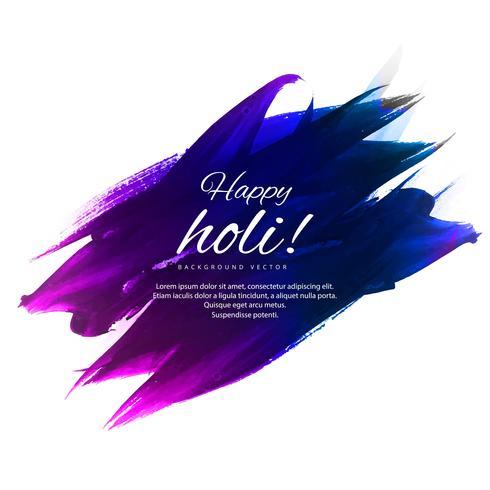 Joyeux holi festival coloré fond illustration vecteur
