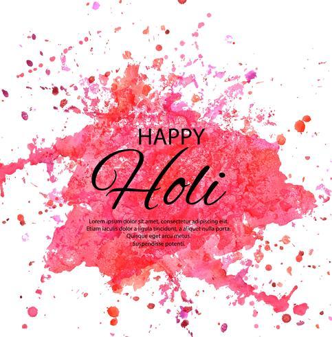 Happy Holi Indian festival du printemps des couleurs vecteur de voeux de retour