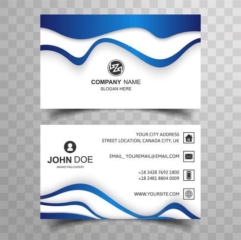 Abstrakt affärskort med vågdesign