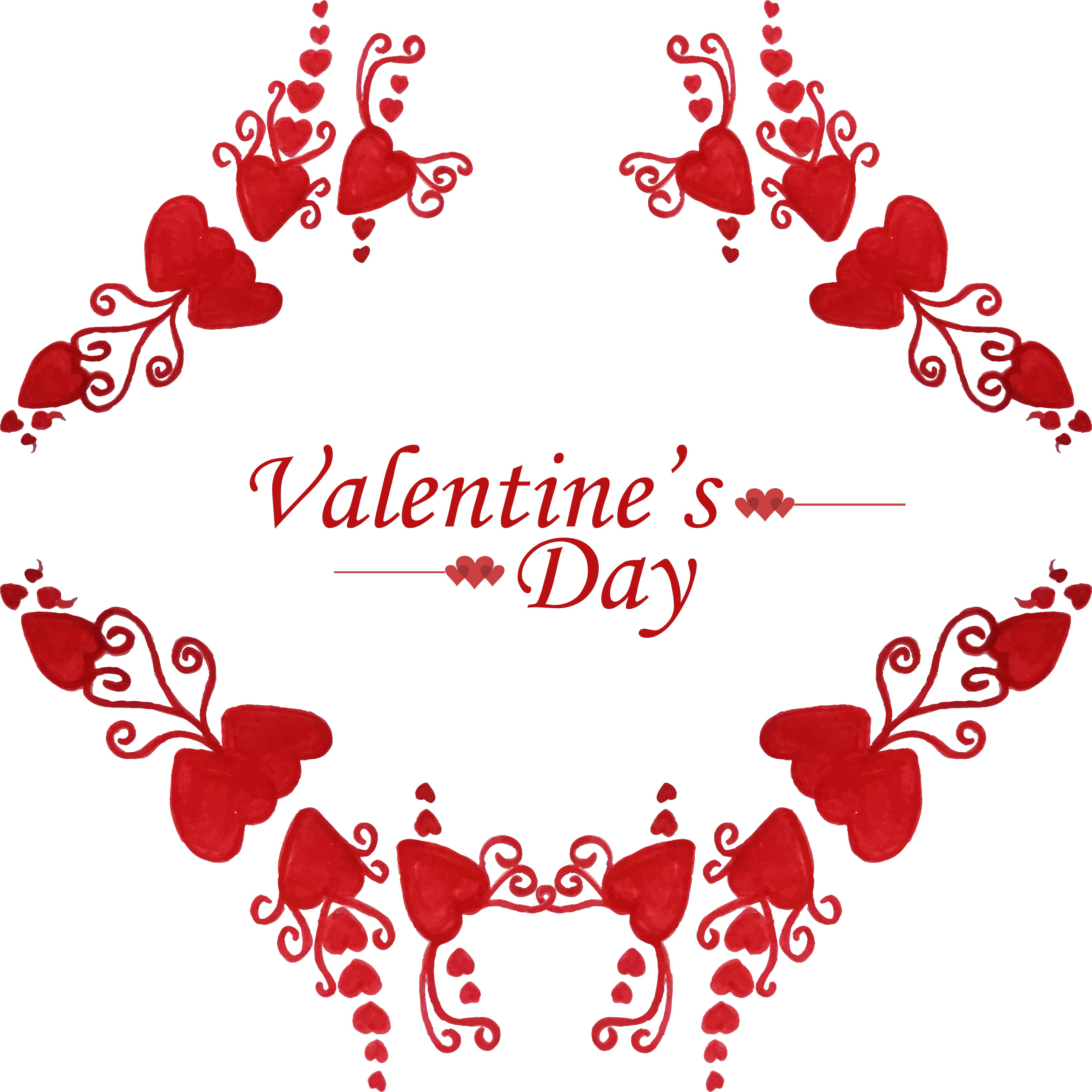 beautiful valentine's day card design  download free