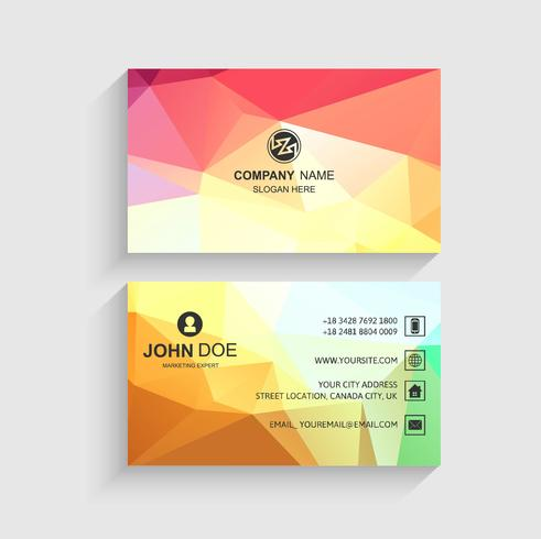 Beautiful business card template presentation vector
