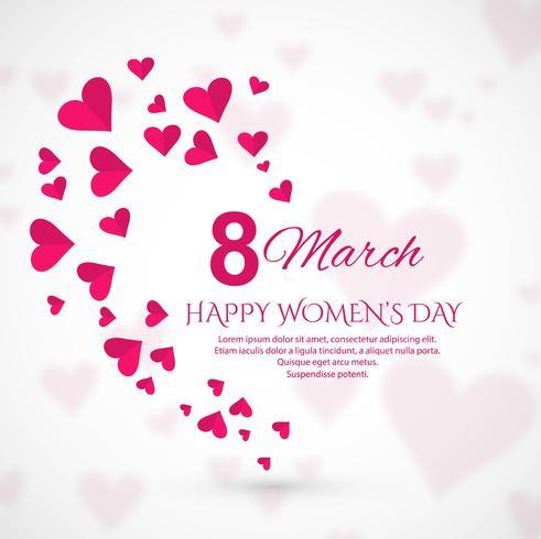 Carte de voeux du 8 mars. Contexte de la journée internationale de la femme