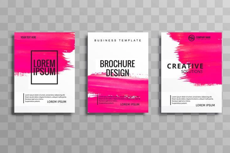 Jeu de cartes de brochure entreprise abstrait course aquarelle