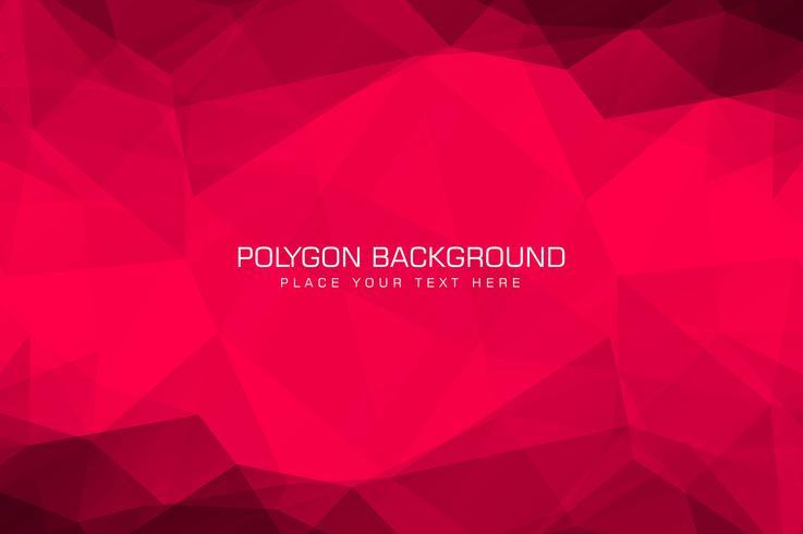 Beau fond de polygone rouge