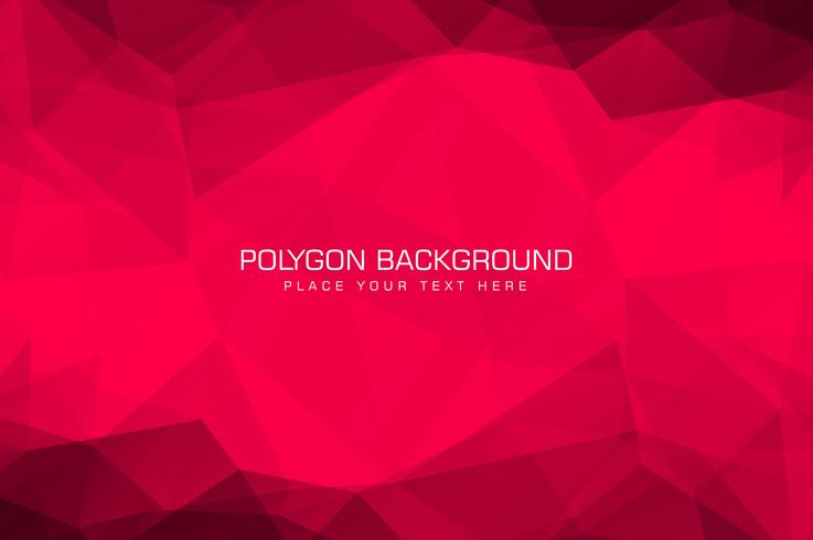 Vacker röd polygon bakgrund