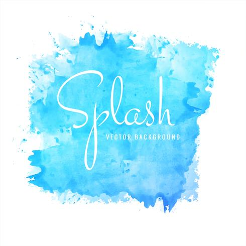 abstract hand drawn blue watercolor splash