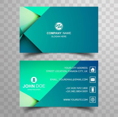 Creativa y limpia doble plantilla de tarjeta de visita de dos caras