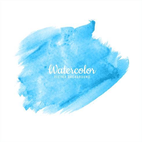 Abstrakt ljusblå akvarell pensel stroke design