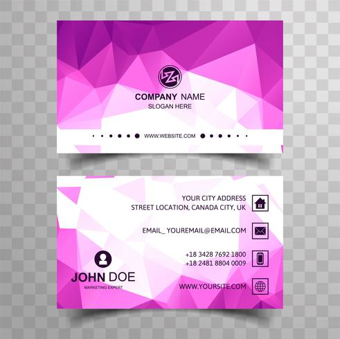 Fondo moderno de la tarjeta de visita