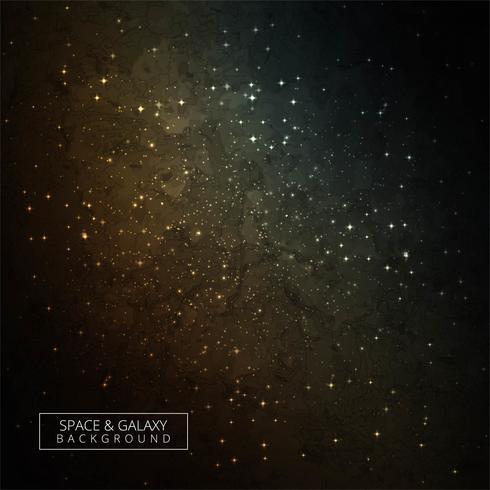 Färgglatt utrymme med ljus lysande stjärnor mörk galax bakgrund