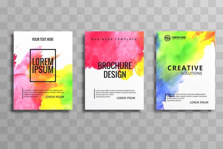 ensemble de brochures commerciales modernes