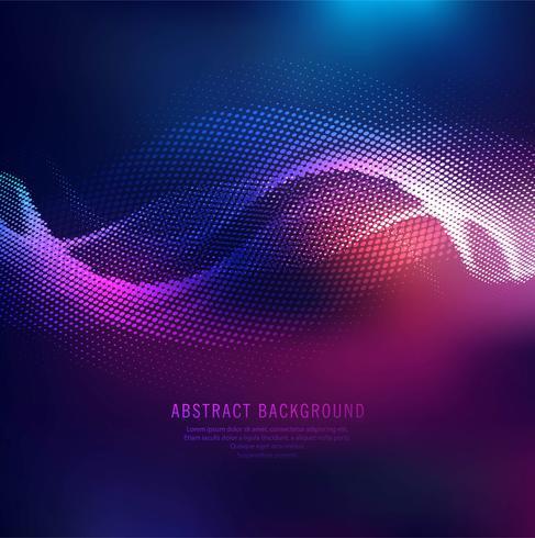 Elegant shiny colorful halftone wave background