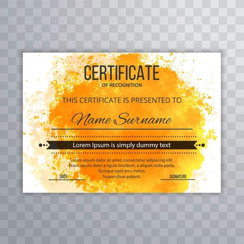 Certificado de plantilla Premium premios diploma fondo con colo