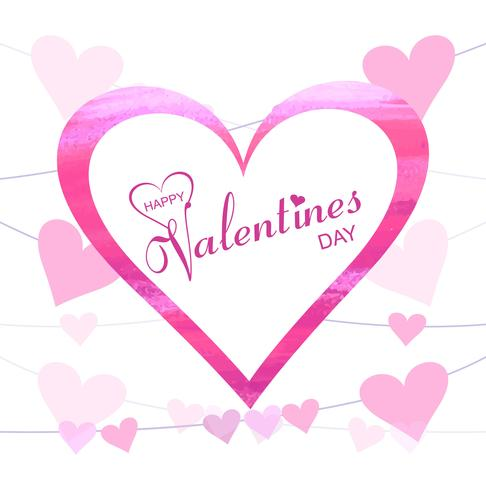 Abstract creative valentine's day hearts background illustration