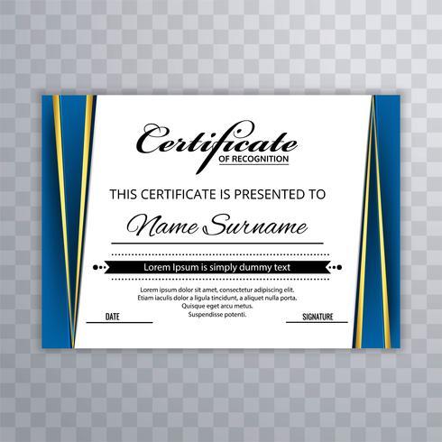 Modèle de prime de certificat