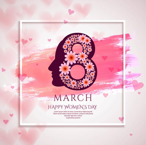 Realistic women's day background illustration