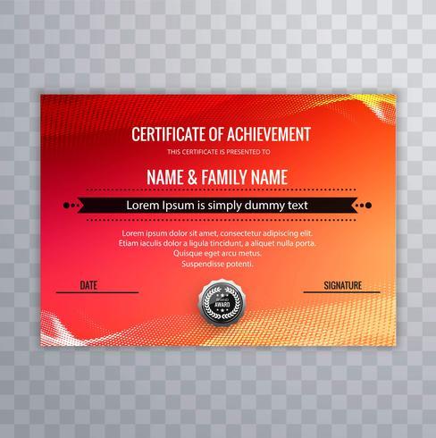 modern certificate template colorful design