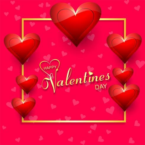 Disegno vettoriale bella carta felice giorno di San Valentino