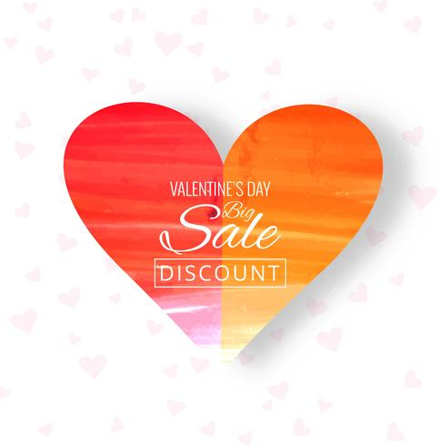 Beautiful heart colorful valentine's day sale background