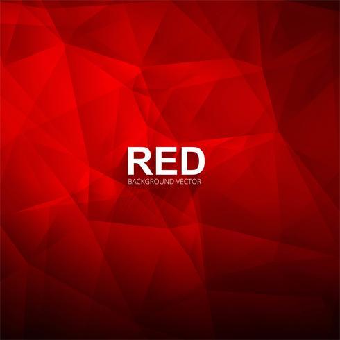 Ilustración de fondo de polígono brillante rojo abstracto