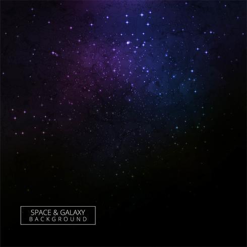 Bunter kosmischer Hintergrund mit hellen glänzenden Sternen entwerfen
