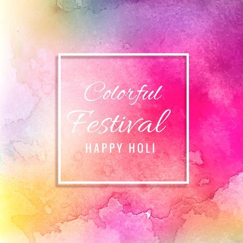 Ilustración del colorido Happy Holi Background para el Festival de C