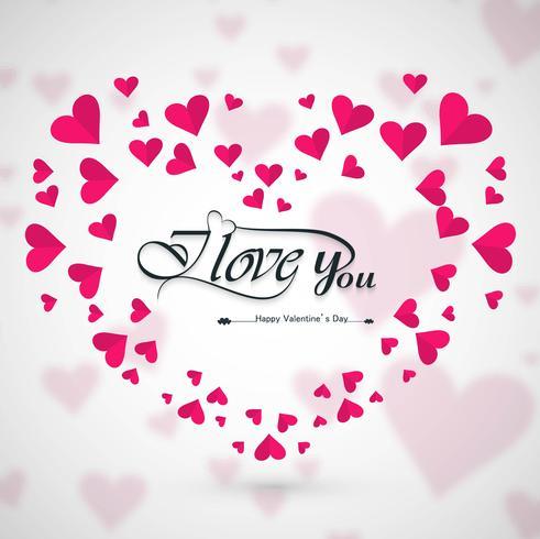 Modern valentine's day hearts decorative background
