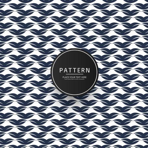 Seamless geometric floral pattern vector design