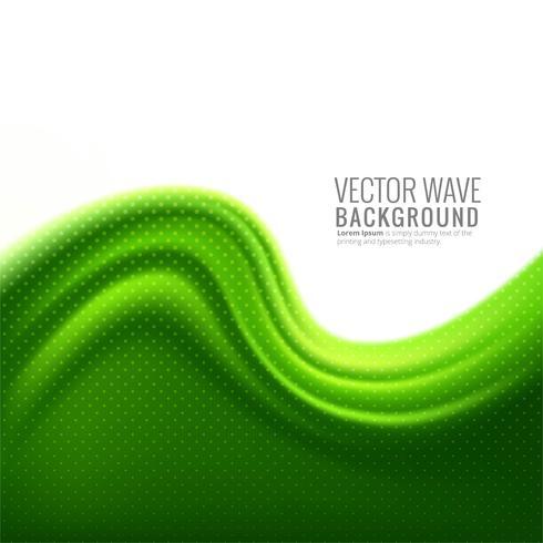 Vector de diseño elegante ola verde