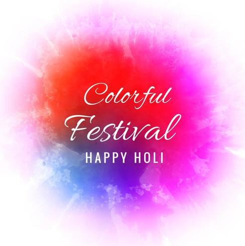 Happy holi colorido festival de fondo
